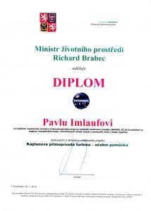 Diplom Pavlu Imlaufovi