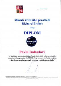Diplom od ministra životního prostředí